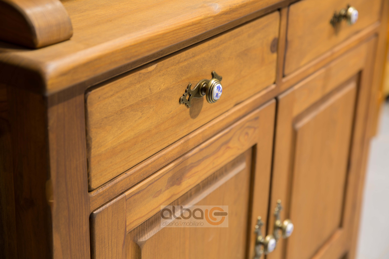 Aparador vitrina rústico. | ALBA diseño & mobiliario