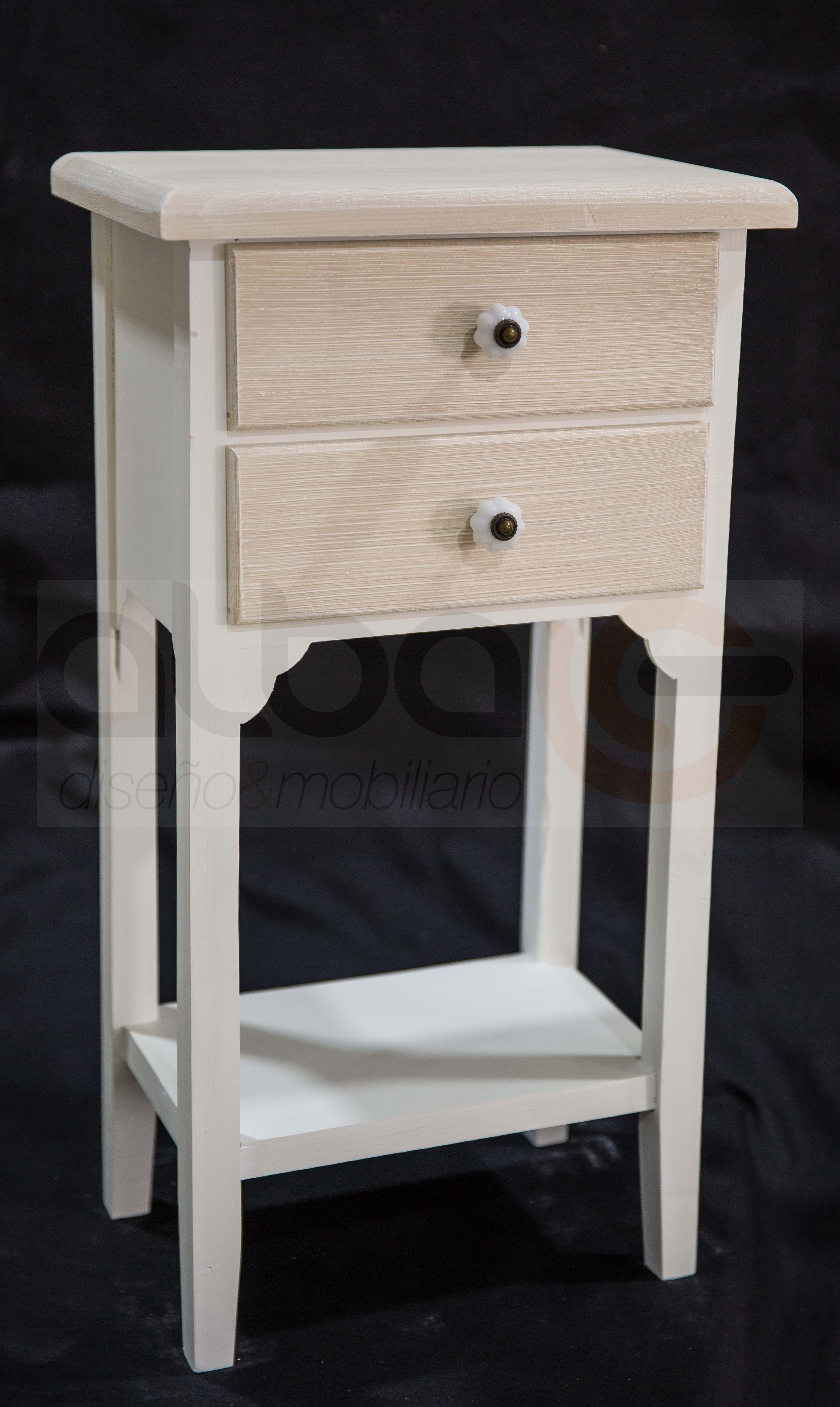 Mesita 2 cajones balda baja alba dise o mobiliario for Balda muebles