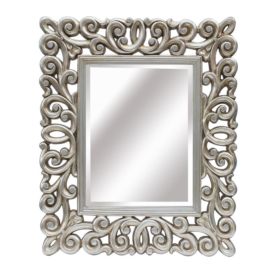 Espejo plata vieja alba dise o mobiliario - Espejos color plata ...